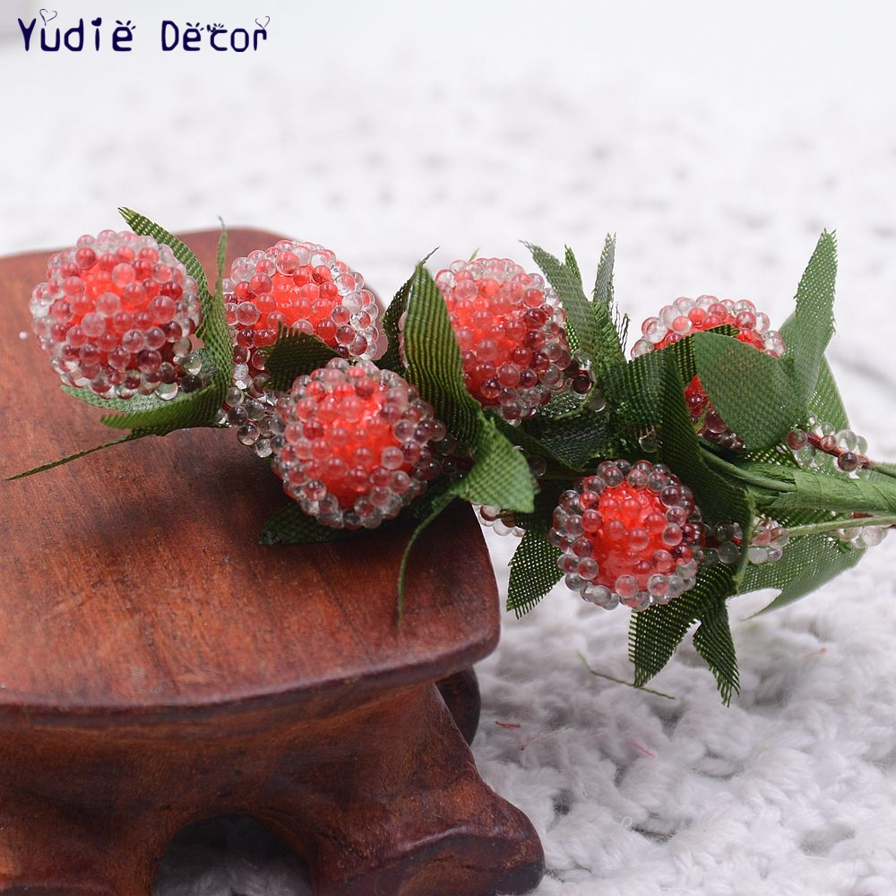 8pcs/lot Valentine Gift Artificial Plastic Strawberry Flowers ...