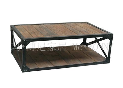 American Iron table à café pour faire le vieux bois millésime table ...