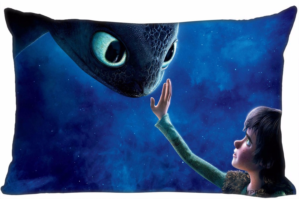 Custom How To Train Your Dragon Pillow Covers Cases Rectangle Pillowcases zipper 35x45cm (One Side Print)180516-21-10