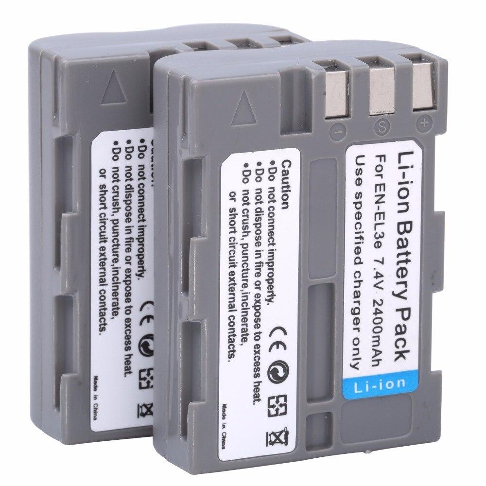 2x EN-EL3e EN EL3e bateria EL3a ENEL3e Batterie pour Appareil Photo Nikon D300S D300 D100 D200 D700 D70S D80 D90 D50 MH-18A batteries