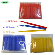 3 bags/set Dental Plastic Wedge with Handle Orthodontic Material Colors Sizes (100 pcs/bag)