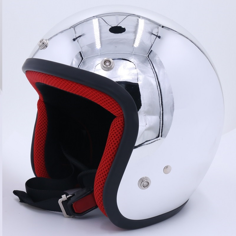Free Shipping,Mirror Silver Chrome Open Face Motorcycle Motorcross Helmet Harley helmet Casco Capacete rock star cross ATV mirror silver chrome vespa open face