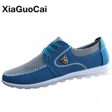 XiaGuoCai Spring Autumn Men Casual Shoes Breathable Lightweight Driving Shoes High Quality Boat Shoes Men's Flat Loafers X66