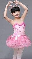 2016 Romantic Ballet Tutu Kids Dance Dress Costume Child Pink Color
