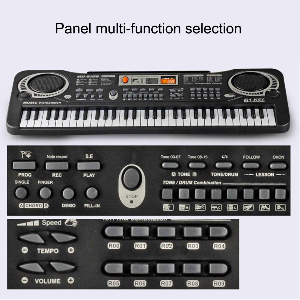 Jouet de formation musicale 61 touches Piano électronique enfants Piano jouet d'enseignement Musical pour enfants clavier Piano électrique enfants cadeau - 6