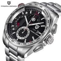 2017 Pagani Design Genuine Quartz Watches Men Sports Calendar Waterproof Stainless Steel Outdoor Clock Relogio Masculino