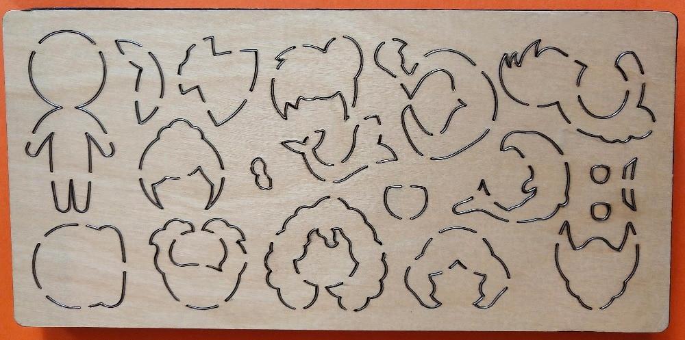 Girl assembly drawing wood moulds die cut accessories wooden die Regola Acciaio Die Misura MY
