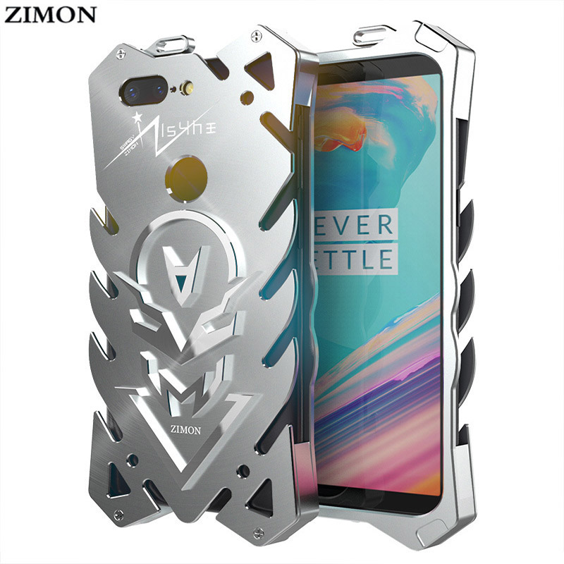 "Zimon Aluminum Metal Armor Cases For OnePlus 5T Shockproof Cover For OnePlus 5T Case OnePlus 5 T 6.01""Phone Bags"