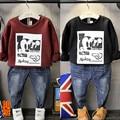 Children with male baby boy head sleeve fleece velvet sweater coat plus thick autumn Korean version of the new A636