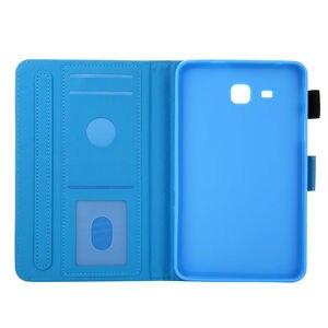 Image 5 - SM T280 מקרה עבור Samsung Galaxy Tab a6 7.0 2016 T280 T285 SM T285 כיסוי אופן בסיסי אופנה חתול הדפסת Tablet Stand מעטפת + מתנה