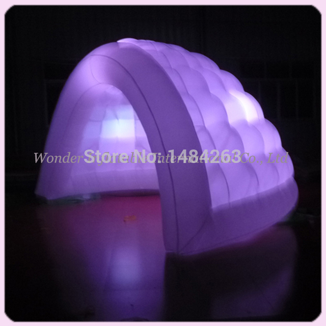 Customized high quality double layer air dome outdoor events inflatable tent with led lights&blower