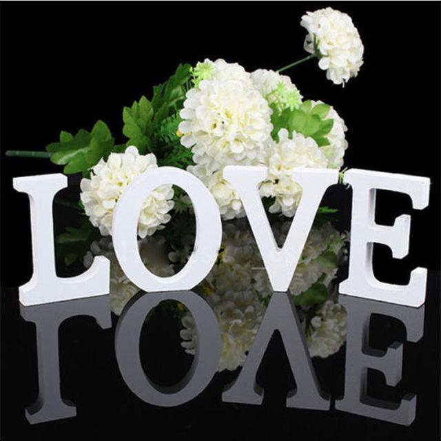 1 PCS Home Decoration Wood Wooden Letter Alphabet Word Free Standing Wedding Part Birthday Decor Supplies