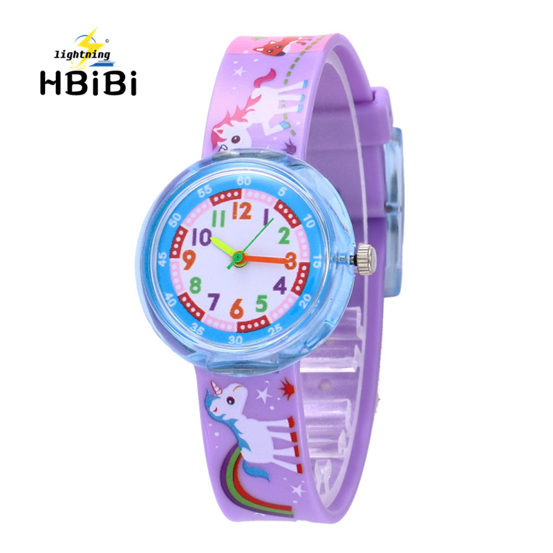 New Listing 7 Styles Cartoon Pony Children Watch Cute Dinosaur Unicorn Pattern Kids Watches Student Girls Boys Clock Child Watch
