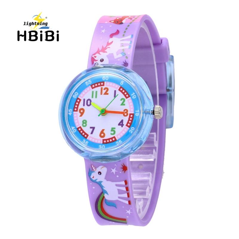 New Listing 7 Styles Cartoon Pony Children Watch Cute Dinosaur Unicorn Pattern Kids Watches Student Girls Boys Clock Child Watch