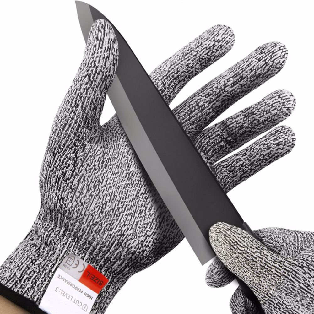 Cut-resistant Anti-Knife Glove Chain Saw Safty Gloves Level 5 Protection Hunting Survival Gear Travel Tool Camping Size L XL 21