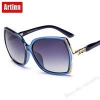 Luxus frauen polarisierte sonnenbrille marke designer 2017 famouse platz große rahmen übergroßen shades sonnenbrille M1601