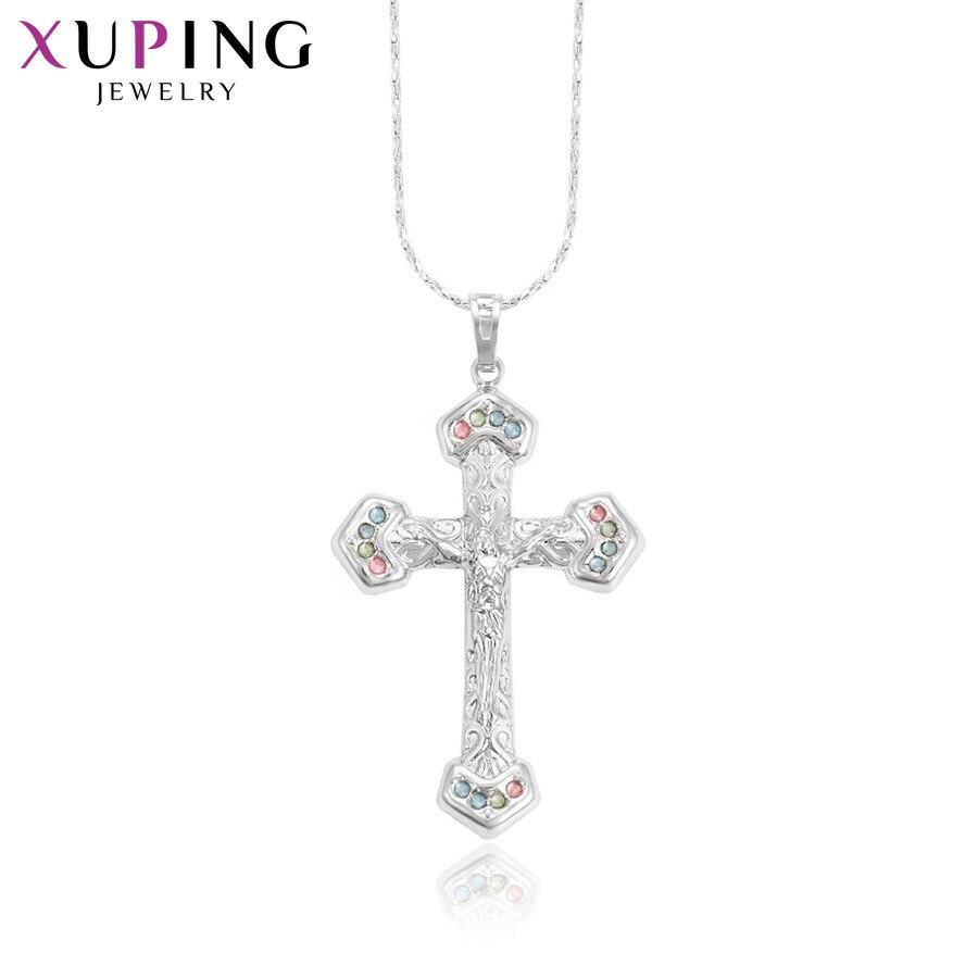 11,11 сделок Xuping модные элегантные Религия крест кулон родий Цвет покрытием украшения для Для женщин подарок на день матери M37-30116