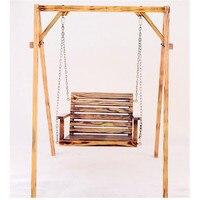 Для детей и взрослых антикоррозийной древесины висит стул крытый и открытый балкон кресло качалка садовые качели стул (не включают полка)