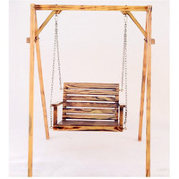 Children adult anti corrosion wood hanging chair indoor and outdoor balcony rocking chair garden swing chair(not include shelf)