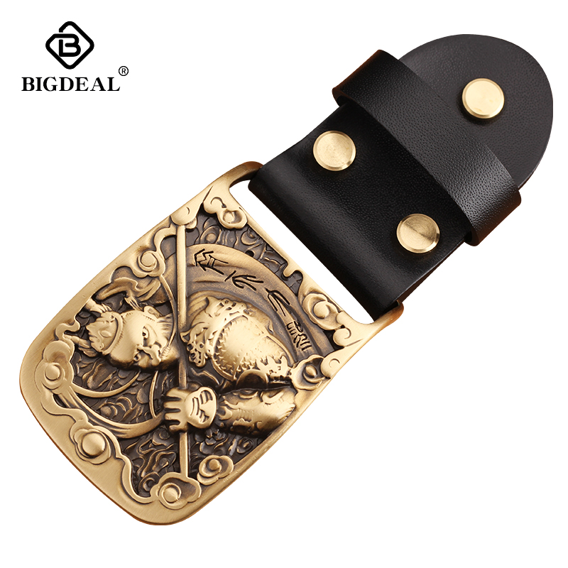 Smooth Buckle Solid Brass DIY Leather Craft For Men's Belt Brushed Metal Fashion Mens Womens Jeans Accessories Fit For 3.8cmbelt