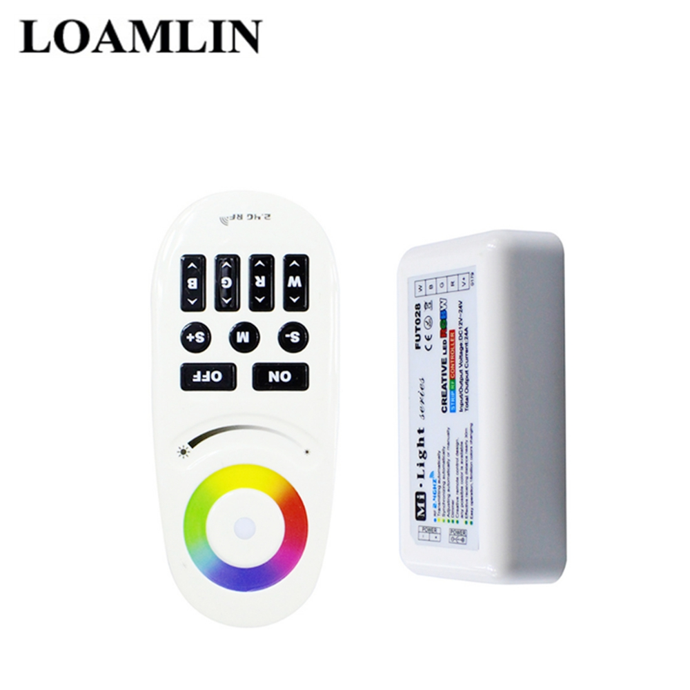FUT007 2.4G RF Wireless 4-Zone Touch Screen Dimmable LED Dimmer Controller DC12-24V 12A For Single Color LED Strip image