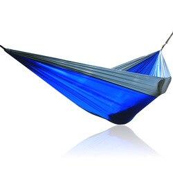 Niebieski szary podwójne hamak ogrodowy w Hamaki od Meble na