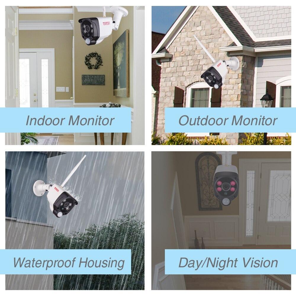Système de caméra de sécurité sans fil Tonton 1080 P 8CH NVR enregistrement Audio 2MP Wifi extérieur caméras de vidéosurveillance IP Kits de Surveillance de capteur PIR - 4