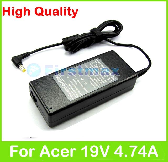 90 W 19 V 4.74A AC adaptador de alimentação para Acer Aspire 5943 5943 G 5949 5950 5950 G 8943 G 8950 G 8961