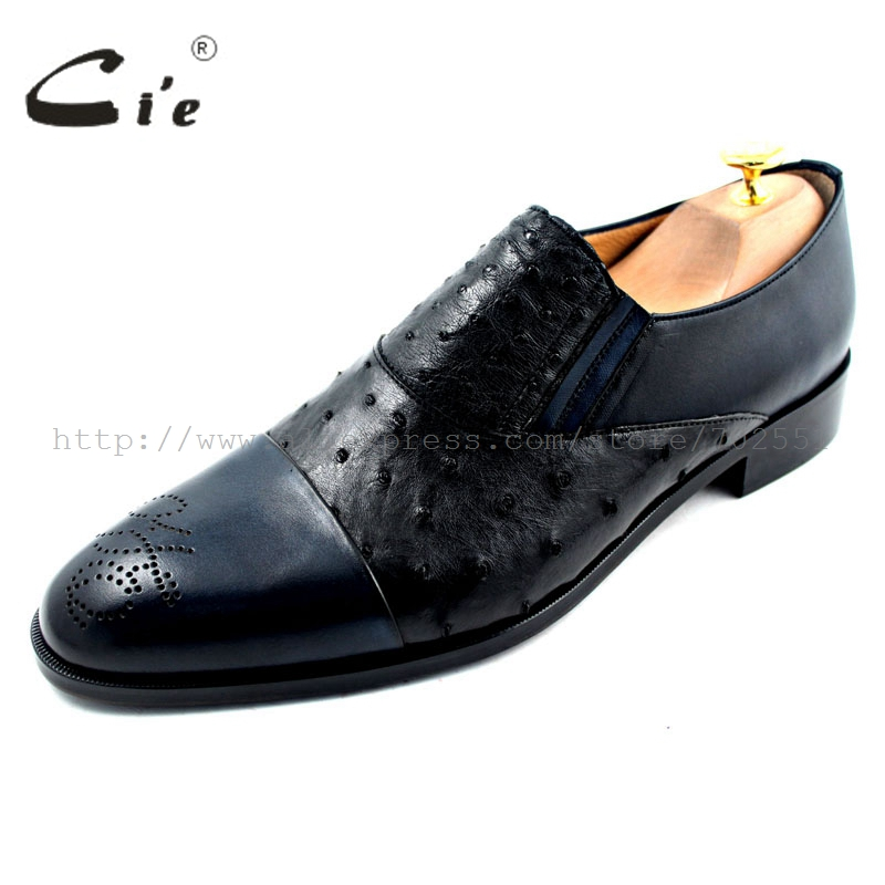cie Free Shipping Mackay Craft Handmade Boats Slip-on Men's Ostrich/Calfskin Outsole Breathable Black/Navy shoe No.Loafer 22 купить часы haas lt cie mfh211 zsa