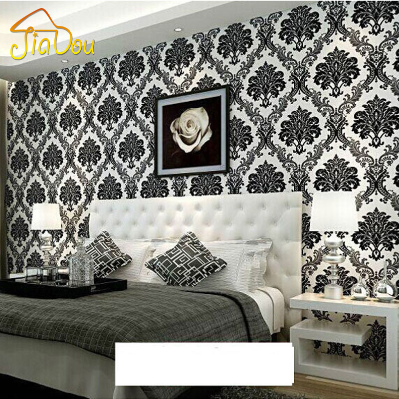 Luxury European Style Damask Wallpaper Roll For Walls 3D Floral Embossed Textured Non-woven Flocking Wall Paper For Living Room спортинвентарь nike чехол для iphone 6 на руку nike vapor flash arm band 2 0 n rn 50 078 os
