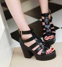 GOSAJUJE 2017 летние новые моды сандалии женщин бесплатная доставка на высоких каблуках сексуальная европейский стиль нескользящей учащиеся обувь сандалии горячая