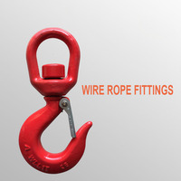 30 Tons Universal Cargo Hook 360 Degree Rotary Hook G80 High Strength Alloy Steel Hook Wire Rope Fittings