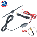 DVB-T ISDB-T Antenna Car Digital TV Antenna Aerial with a Amplifier Booster SMA connector 5M+Free shipping WF