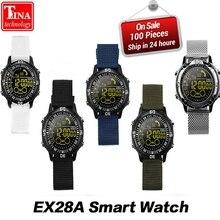 Получить скидку Оригинальный EX28A Смарт часы Bluetooth Smartwatch 10 м Водонепроницаемый Спорт на открытом воздухе шаг подсчета сжигать калории для Android IOS Телефон