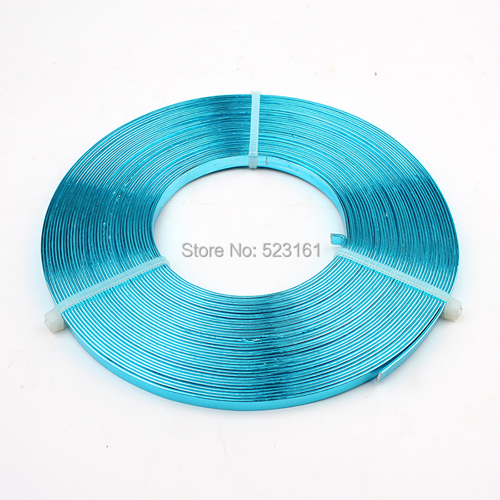 Flat Anodized Aluminum Wire Green Red Black Silver Gold Blue Rose ...