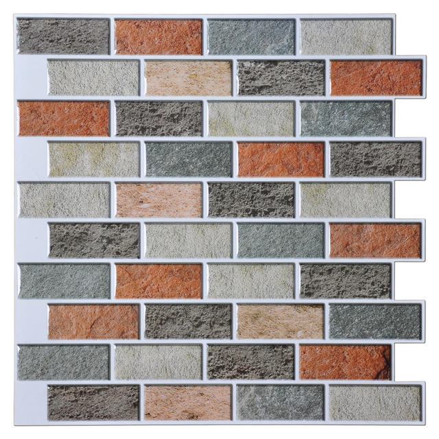 12 X12 Peal And Stick Tiles Kitchen Backsplash 10 Pieces Adhesive Wall