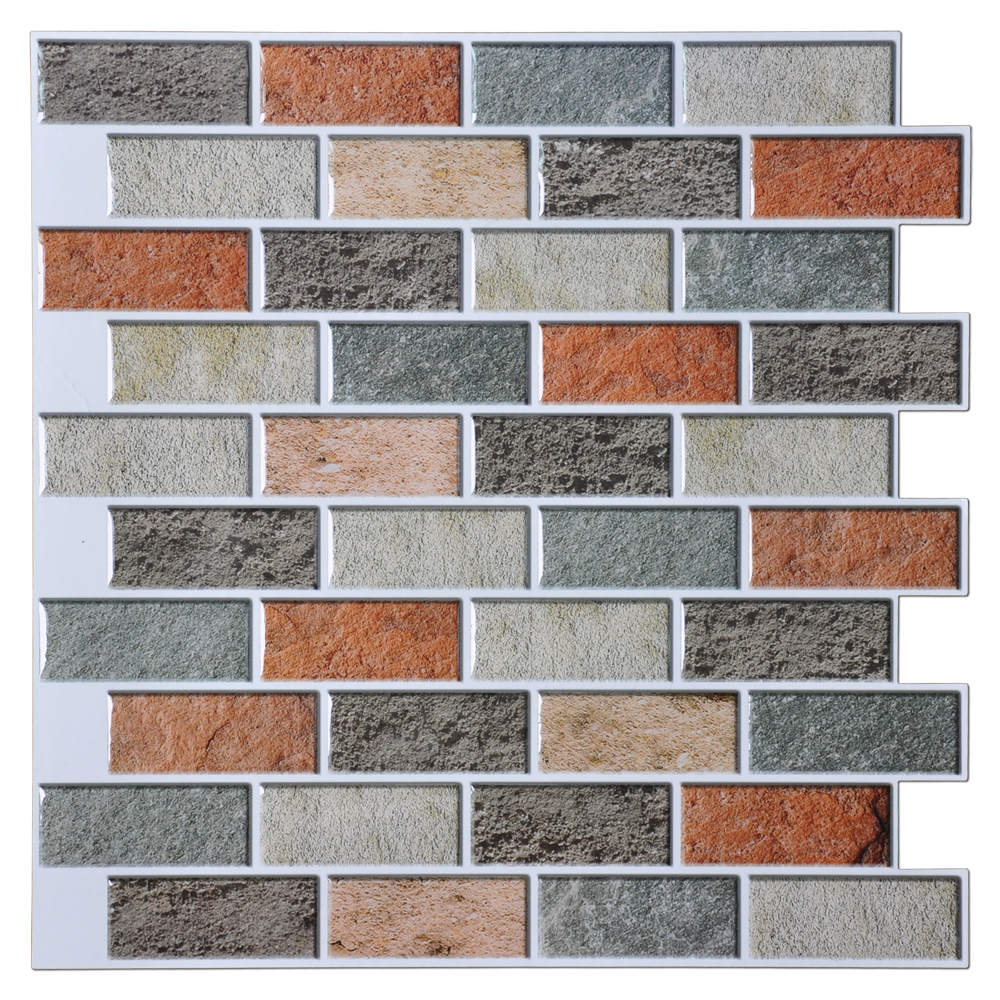 Wall tile buy cheap stone wall tile lots from china stone wall tile - 12 X12 Peal And Stick Tiles Kitchen Backsplash 10 Pieces Adhesive Wall