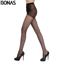 BONAS весенние пикантные нейлон Колготки для новорождённых для Для женщин тонкий Спандекс Модные черные колготки Нескользящие женские Чулки для женщин сплошной Дизайн Эротические чулки для женщин