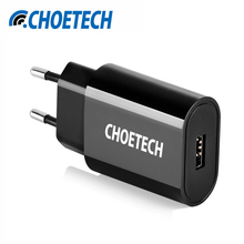 CHOETECH USB Charger Universal 12W Travel Wall Charger USB Adapter US EU Plug Smart Mobile Phone Chargers for iPhone For Samsung