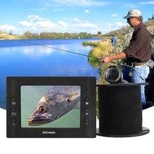 """Erchang 15 м кабель камера рыболокатор инфракрасный светодиодный 3,"""" монитор HD 1000TVL подводная камера для подледной рыбалки на английском и русском языках"""