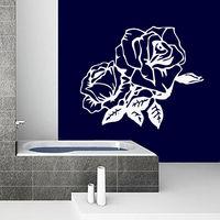 Flowers Wall Decals Vinyl Decal Sticker Bathroom Kitchen Window Nursery