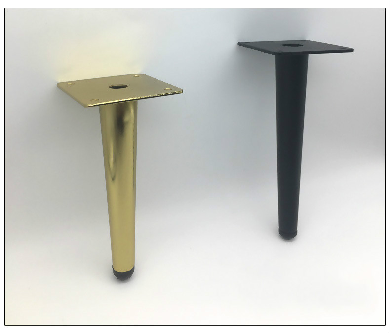 Metal Furniture Legs Iron Straight Support 12/ 15/ 17/ 20/ 25/ 30/ 36/ 38cm Cabinet Table Feet Furniture Accessories 1pcs