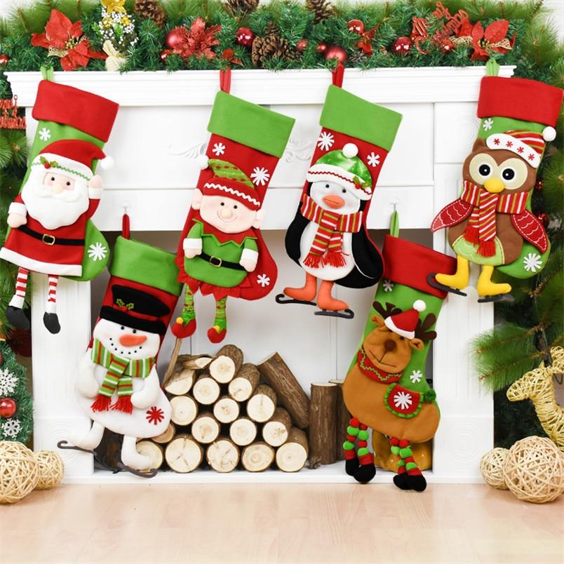 Vintage Navidad Calcetin Navidad Santa Claus Muneco De Nieve - Vintage-navidad