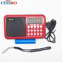 18650 Battery Portable Mini FM Radio Speaker Music Player SD/TF Card USB For PC iPod Phone Micro Digital linternet