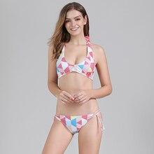 Bikini 2019 Swimwsuit Women Sexy Swimwear Push up Bikini Bandage Halter Bikini Set Low Waist Padded Beachwear Drop shipping S-XL