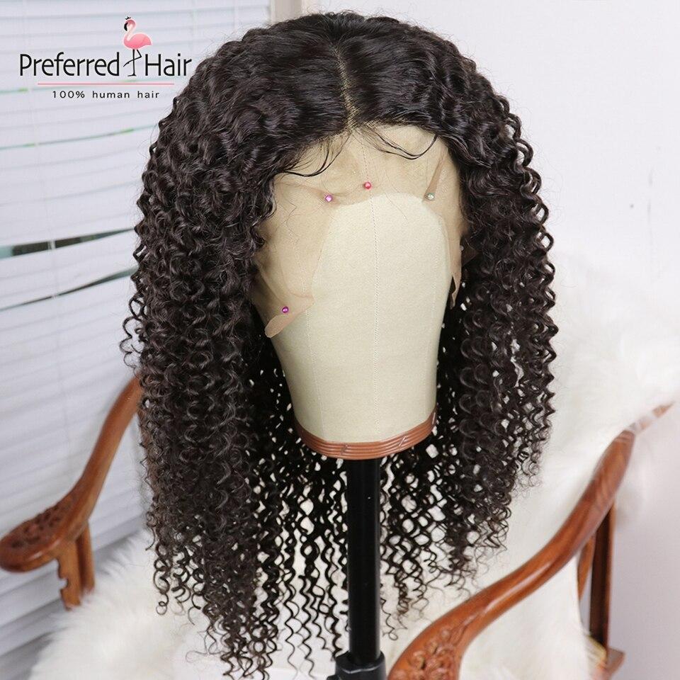 Предпочтительный бразильский Реми 13x6 Синтетические волосы на кружеве парик с детскими волосами парик из бразильских курчавых, желтый Цвет прозрачные кружевные парики для Для женщин - 6