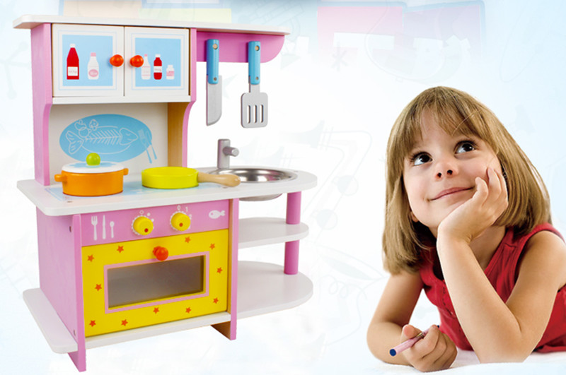 New wooden toy Wooden kitchen simulational toy baby educational toy wooden blocks gfit baby gift