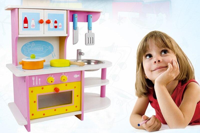 Nieuwe Houten Speelgoed Houten Keuken Simulational Speelgoed Baby Educatief Speelgoed Houten Blokken Gfit Baby Gift Koel In De Zomer En Warm In De Winter