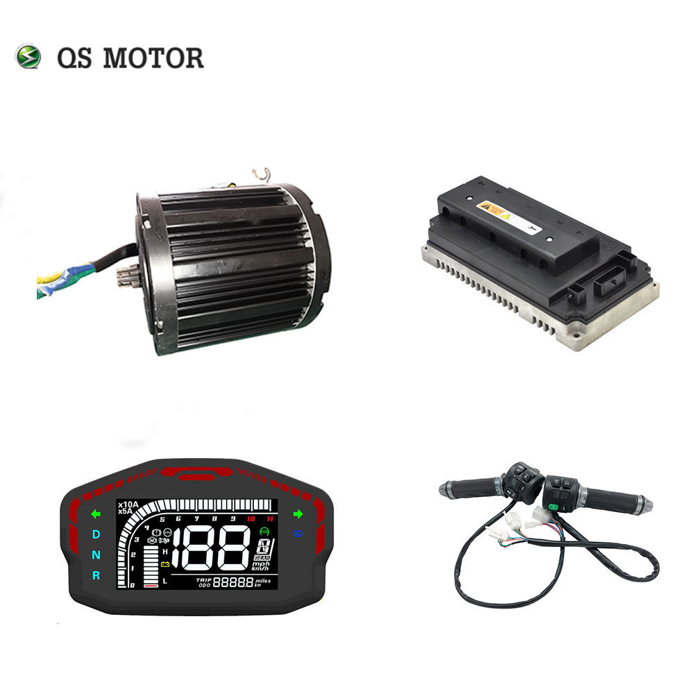 QS 138 <font><b>3000W</b></font> 72V 100KPH Mid drive motor power train kits with motor controller image