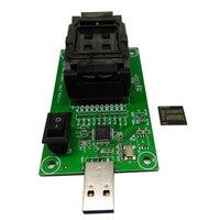 EMCP221 à USB à clapet éclats banc d'essai programmeur brûlures les données à lire siège Données lignes